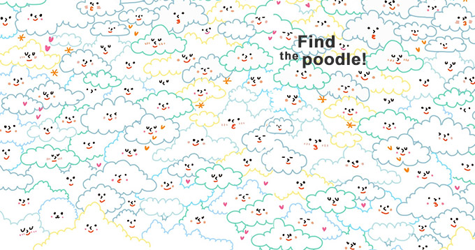 Find the poodle!